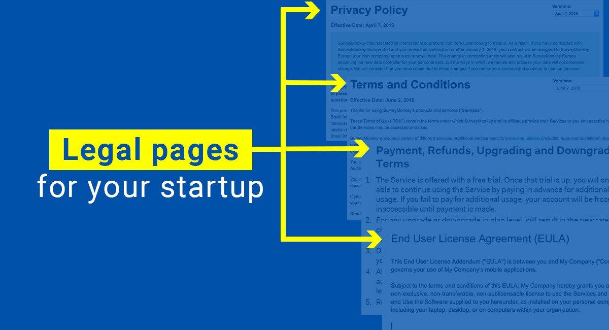 Legal pages that every website should have